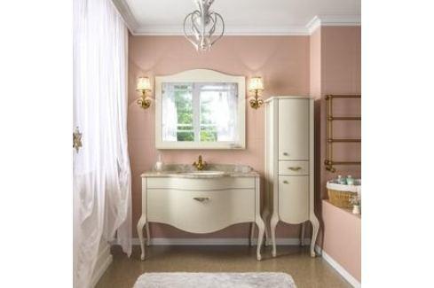 Тумба со столешницей и раковиной Timo Еллен плюс 1 ящик, аворио (Elp.t-120 M-V1 (A)) Мебель для ванных комнат