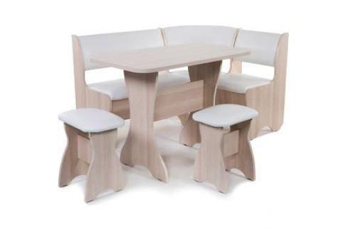 Набор мебели для кухни Бител Тюльпан - однотонный (ясень, Борнео милк, ясень) Кухонные уголки