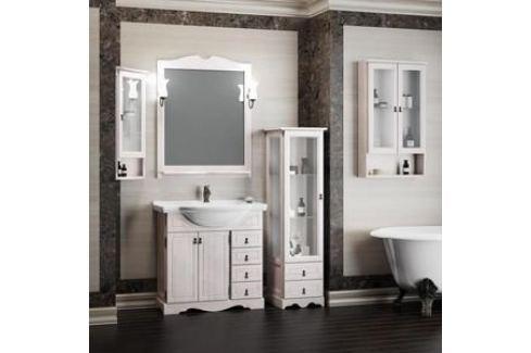 Тумба с раковиной Opadiris Клио 80 белый (Z0000001085 + 00000000901) Мебель для ванных комнат