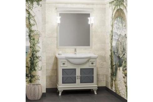 Тумба с раковиной Opadiris Борджи 85 слоновая кость (Z0000012561 + 00000000901) Мебель для ванных комнат