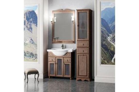 Тумба с раковиной Opadiris Тибет 70 антикварный орех со стеклом (Z0000009467 + 00000000900) Мебель для ванных комнат