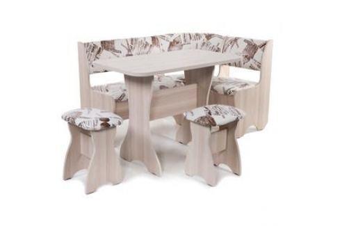 Набор мебели для кухни Бител Тюльпан - однотонный (ясень, замша 642 Париж, ясень) Кухонные уголки