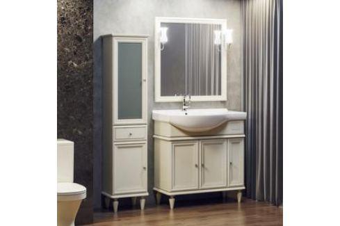 Тумба с раковиной Opadiris Санрайз 90 слоновая кость левая (Z0000006355 + Z0000013025) Мебель для ванных комнат