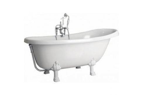 Ванна из литого мрамора Фэма Стиль Салерно 170х83 см лапы хром Из искусственного камня