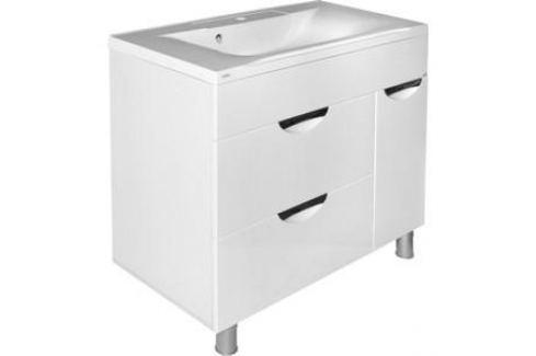 Тумба под раковину Mixline Этьен 90 с бельевой корзиной, Элен 90 (1105165298619) Мебель для ванных комнат