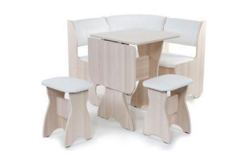 Набор мебели для кухни Бител Тюльпан мини - однотонный (ясень, Борнео милк, ясень) Кухонные уголки