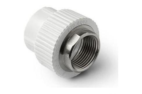 Муфта Pro Aqua PP-R W комбинированная с внутренней резьбой 63х2 дюйма под ключ Для полипропиленовых труб