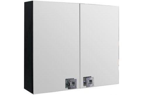 Зеркальный шкаф Mixline Мальта 80 черный (2181105252667) Мебель для ванных комнат
