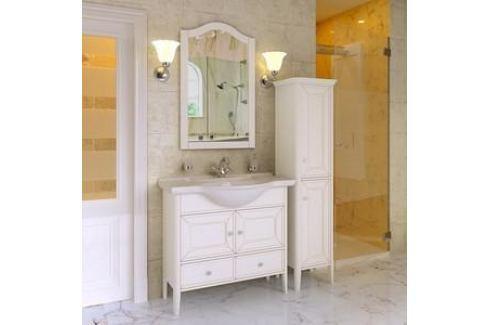 Тумба с раковиной Timo Аврора 2 дверцы, 1 ящик, белый (Av.t-85 M-VR (B)) Мебель для ванных комнат
