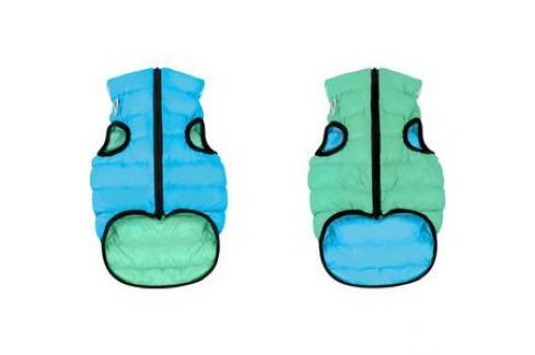 Курточка CoLLaR AiryVest Lumi двухсторонняя светящаяся салатово-голубая размер XS 25 для собак (2142) Одежда