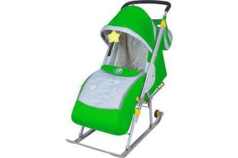 Санки-коляска Ника Детям НД4 (зеленый) Санки