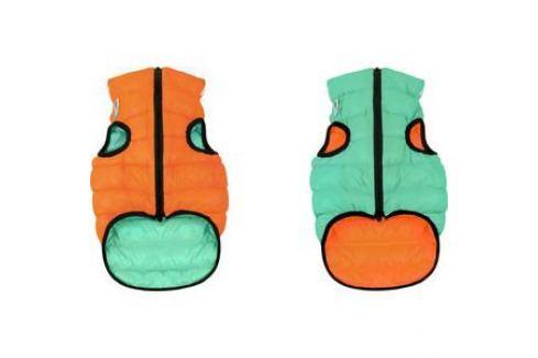 Курточка CoLLaR AiryVest Lumi двухсторонняя светящаяся оранжево-салатовая размер L 65 для собак (2321) Одежда