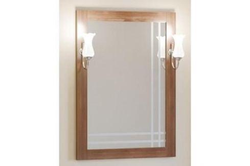 Зеркало в деревянной раме Opadiris Сакура 60 светлый орех левое, для светильников Z0000006243 (Z0000010822) Мебель для ванных комнат