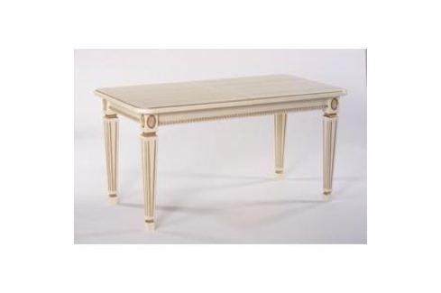 Стол обеденный Мебелик Меран 03 слоновая кость/патина 150/200x80 Обеденные столы
