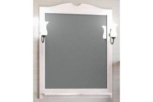 Зеркало в деревянной раме Opadiris Клио 80 белый, для светильников 00000001041, Z0000001408 (Z0000000859) Мебель для ванных комнат