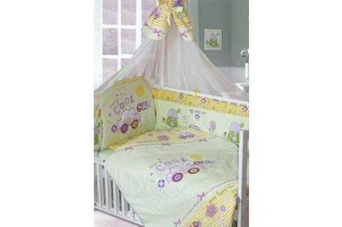 Комплект в кровать Золотой гусь 7 предметов Cool Car зеленый 1244 Комплекты постельного белья