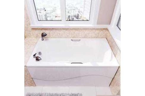 Ванна из литого мрамора Фэма Стиль Алассио 150 150х75 см Из искусственного камня