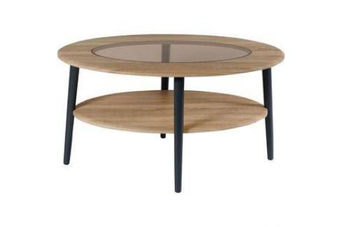 Стол журнальный Калифорния мебель Эль со стеклом СЖС-01 дуб сонома Журнальные столы