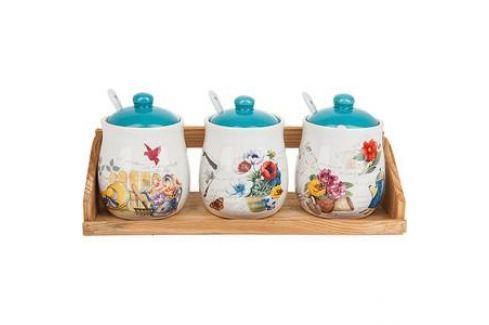 Набор банок для сыпучих продуктов 3 штуки Nouvelle Сад (660045) Посуда для хранения продуктов