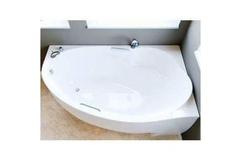 Ванна из литого мрамора Фэма Стиль Аделина 170х98 см левая Из искусственного камня