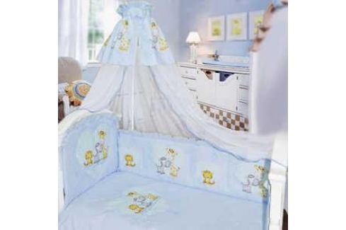Комплект в кровать Золотой гусь 7 предметов Сафари голубой 1212 Комплекты постельного белья