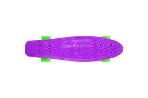Скейтборд Hubster Cruiser 22 фиолетовый с зелеными колесами 9283П Детские скейтборды