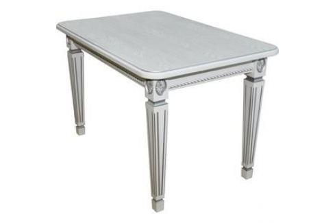 Стол обеденный Мебелик Меран 01 белый/патина 120/170х80 Обеденные столы