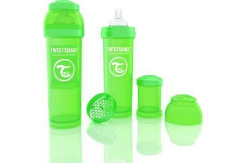 Twistshake Антиколиковая бутылочка для кормления 330 мл. Зелёная (780016) Бутылочки и поильники