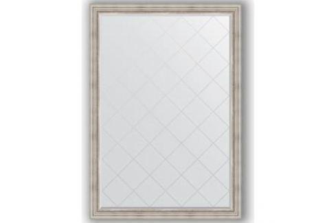 Зеркало с гравировкой поворотное Evoform Exclusive-G 131x186 см, в багетной раме - римское серебро 88 мм (BY 4491) Мебель для ванных комнат