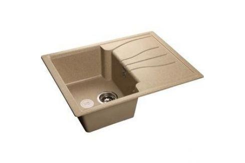 Мойка кухонная GranFest гранит 680x500 (Gf-S680L песок) Кухонные мойки