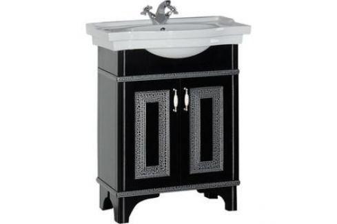 Тумба под раковину Aquanet Валенса 70 черный краколет/серебро (180311) Мебель для ванных комнат