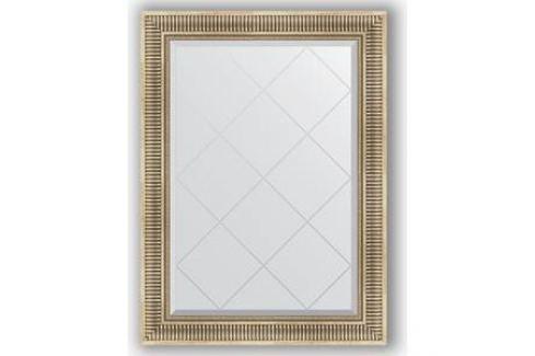 Зеркало с гравировкой поворотное Evoform Exclusive-G 77x105 см, в багетной раме - серебряный акведук 93 мм (BY 4196) Мебель для ванных комнат