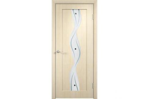 Дверь VERDA Вираж остекленная 2000х800 ПВХ Дуб белёный Межкомнатные двери