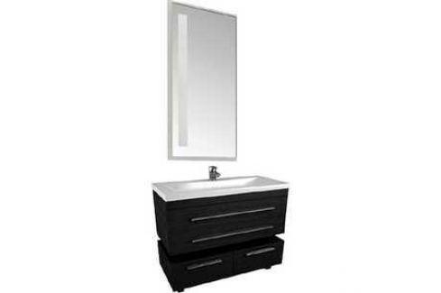 Комплект мебели Aquanet Нота 75 алюминий цвет черный глянец Мебель для ванных комнат