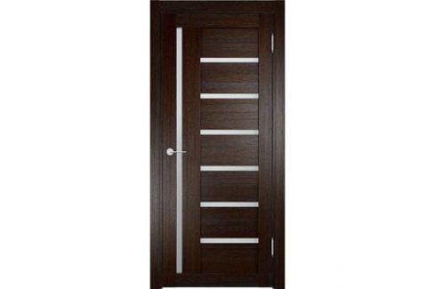 Дверь ELDORF Берлин-2 остекленная 2000х600 экошпон Дуб темный Межкомнатные двери
