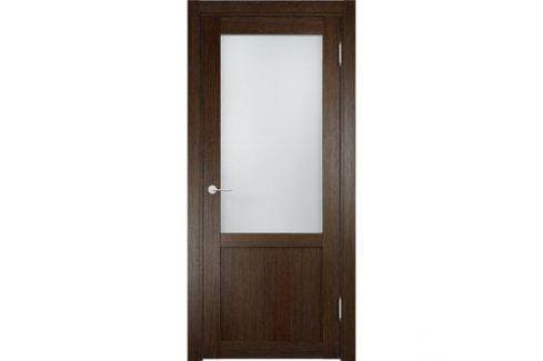 Дверь ELDORF Баден-4 остекленная 2000х800 экошпон Дуб табак Межкомнатные двери