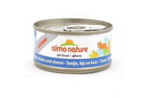 Консервы Almo Nature Legend Adult Cat with Tuna, Chicken and Cheese с тунцом, курицей и сыром для кошек 70г (1358) Электроника и оборудование