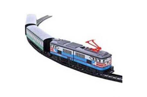 Железная дорога Pequetren металлическая (3,4 м, эллипс), 1 локомотив, 2 вагона, со станцией 302 Игрушки для мальчиков