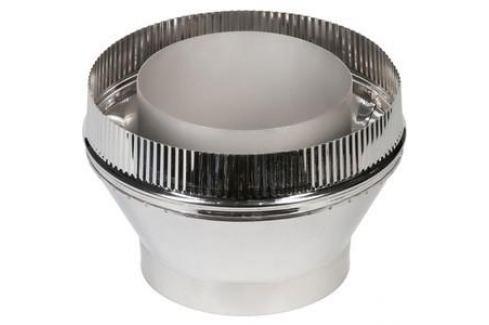 Переходник Феникс сэндвич/труба диаметр 200/150 мм сталь AISI 430 (1.0 нерж.мат./0.5 нерж.зерк.)(01211) Сэндвич