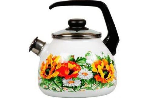 Чайник эмалированный со свистком 3.0 л Vitross Floristeria (1RC12) Чайники