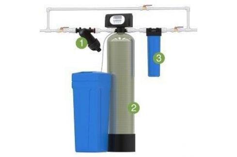 Установка для обезжелезивания и умягчения воды Гейзер WS1044/F65B3 (Экотар В) с автоматической промывкой по расходу Фильтры для коттеджей
