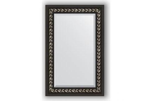 Зеркало с фацетом в багетной раме поворотное Evoform Exclusive 55x85 см, черный ардеко 81 мм (BY 1135) Мебель для ванных комнат