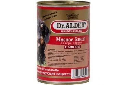 Консервы Dr.ALDER's Мясное блюдо алдерс гарант с мясом (говядина) для собак 410г (7738) Электроника и оборудование