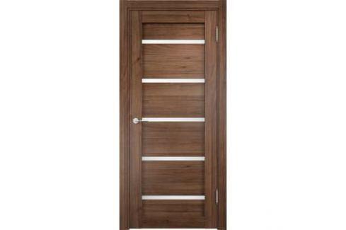Дверь CASAPORTE Ливорно-6 остекленная 2000х900 экошпон Орех Межкомнатные двери