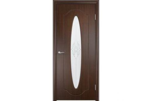 Дверь VERDA Орбита остекленная 2000х800 ПВХ Венге Межкомнатные двери