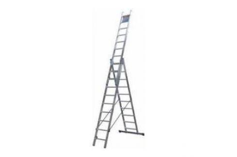 Лестница трехсекционная Сибин 3х12 ступеней (38833-12) Трехсекционные лестницы