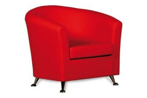 Кресло СМК Бонн 040 1х к/з Санторини0421 красный Мягкая мебель для офиса