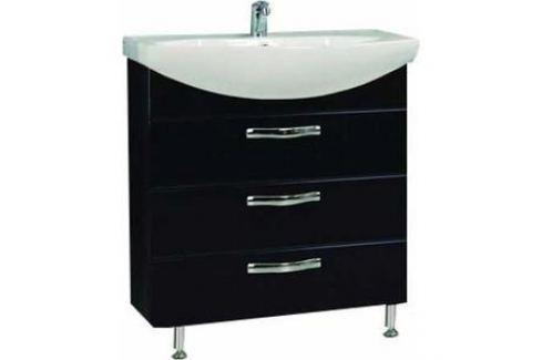 Тумба под раковину Акватон Ария 80 н тёмно-коричневая (1A141301AA430) Мебель для ванных комнат