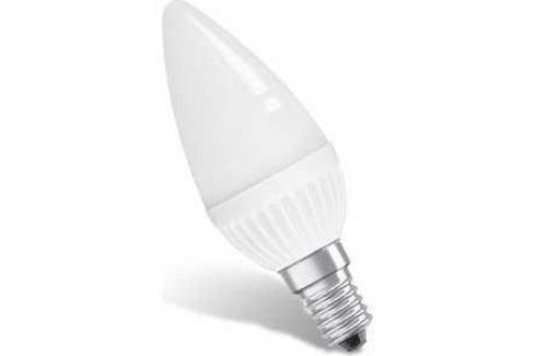 Светодиодная лампа Estares LC-C37-6-NW-220-E14 Универсальная белая матовая Энергосберегающие лампы