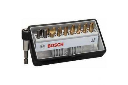 Набор бит Bosch х25мм PH/PZ/TX/SL/HEX 18шт + держатель Max Grip Robust Line (2.607.002.582) Наборы бит